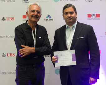 PathMaker was selected as a Top 6 European Neuroscience Startup. Dr. Nader Yaghoubi shown with CEO of The Brain Forum, Dr. Jamil El-Imad